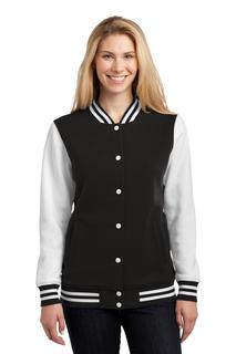 Sport-Tek® Ladies Fleece Letterman Jacket.-