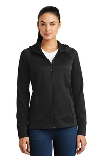 Sport-Tek® Ladies Rival Tech Fleece Full-Zip Hooded Jacket.-