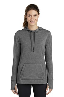 Sport-Tek ® Ladies PosiCharge ® Tri-Blend Wicking Fleece Hooded Pullover.-Sport-Tek