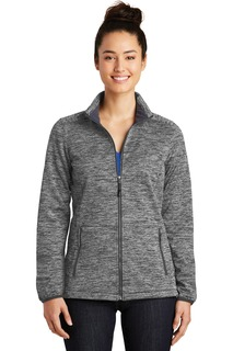 Sport-Tek® Ladies PosiCharge® Electric Heather Soft Shell Jacket.-Sport-Tek