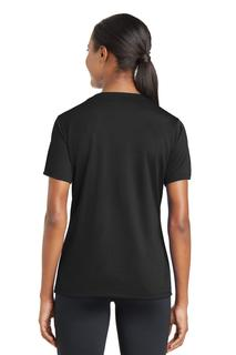 Sport-Tek® Ladies PosiCharge® RacerMesh® V-Neck Tee.