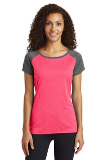Sport-Tek ® Ladies Heather-On-Heather Contender Scoop Neck Tee.-