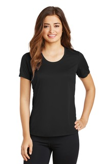 Sport-Tek® Ladies PosiCharge® Elevate Scoop Neck Tee.-Sport-Tek