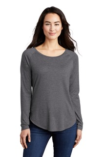 Sport-Tek ® Ladies PosiCharge ® Long Sleeve Tri-Blend Wicking Scoop Neck Raglan Tee-