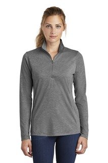 Sport-Tek ® Ladies PosiCharge ® Tri-Blend Wicking 1/4-Zip Pullover.-Sport-Tek