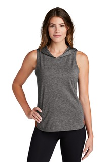 Sport-Tek ® Ladies PosiCharge ® Tri-Blend Wicking Draft Hoodie Tank.-Sport-Tek
