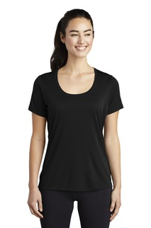 Sport-Tek ® Ladies Posi-UV Pro Scoop Neck Tee.-Sport-Tek