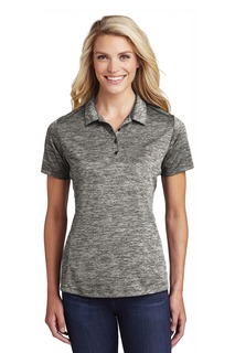 Sport-Tek ® Ladies PosiCharge ® Electric Heather Polo.-Sport-Tek