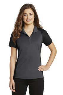 Sport-Tek® Ladies Colorblock Micropique Sport-Wick® Polo.-