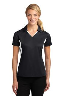 Sport-Tek® Ladies Side Blocked Micropique Sport-Wick® Polo.-