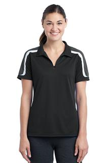 Sport-Tek® Ladies Tricolor Shoulder Micropique Sport-Wick® Polo.-