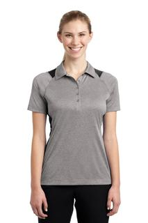 Sport-Tek® Ladies Heather Colorblock Contender Polo.-