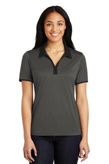 Sport-Tek® Ladies Heather Contender Contrast Polo.-