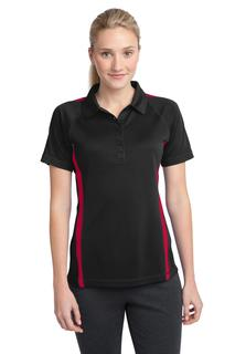 Sport-Tek® Ladies PosiCharge® Micro-Mesh Colorblock Polo.-Sport-Tek