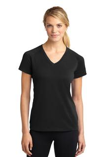 Sport-Tek® Ladies Ultimate Performance V-Neck.-