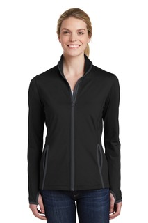 Sport-Tek® Ladies Sport-Wick® Stretch Contrast Full-Zip Jacket.-