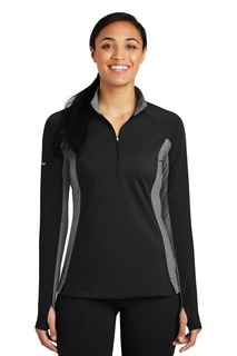 Sport-Tek® Ladies Sport-Wick® Stretch Contrast 1/2-Zip Pullover.-