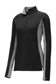 Sport-Tek® Ladies Sport-Wick® Stretch Contrast 1/2-Zip Pullover.