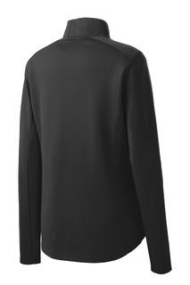 Sport-Tek® Ladies Sport-Wick® Textured 1/4-Zip Pullover.