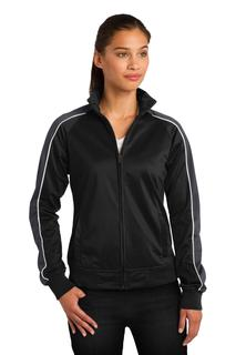 Sport-Tek® Ladies Piped Tricot Track Jacket.