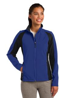 Sport-Tek Ladies Outerwear for Hospitality ® Ladies Colorblock Soft Shell Jacket.-Sport-Tek