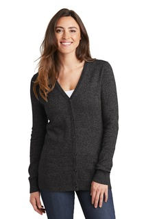 Port Authority Marled Cardigan Sweater.-Port Authority