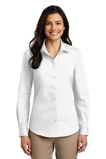 Port Authority® Ladies Long Sleeve Carefree Poplin Shirt.-Port Authority