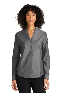 Port Authority Long Sleeve Chambray Easy Care Shirt-Port Authority