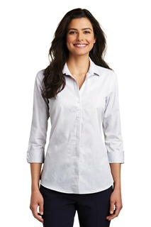Port Authority® Ladies 3/4-Sleeve Micro Tattersall Easy Care Shirt.