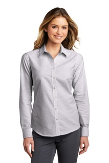 Port Authority SuperPro Oxford Stripe Shirt.-