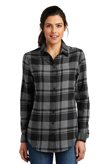 Port Authority® Ladies Plaid Flannel Tunic .-