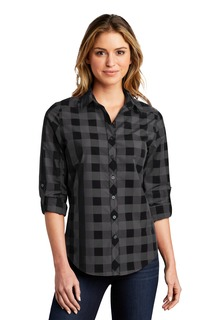 Port Authority ® Ladies Everyday Plaid Shirt.-