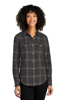 Port Authority Long Sleeve Ombre Plaid Shirt-