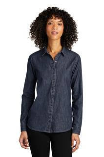 Port Authority Long Sleeve Perfect Denim Shirt-