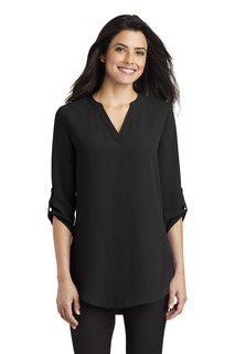 Port Authority 3/4-Sleeve Tunic Blouse.-Port Authority