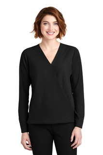 Port Authority ® Ladies Wrap Blouse.-Port Authority