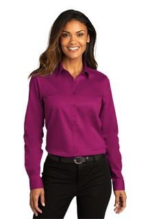 Port Authority Long Sleeve SuperProReactTwill Shirt.-