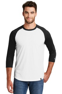 New Era Heritage Blend 3/4-Sleeve Baseball Raglan Tee.-