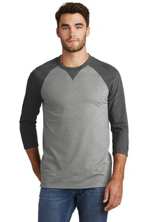 New Era ® Sueded Cotton Blend 3/4-Sleeve Baseball Raglan Tee.-New Era
