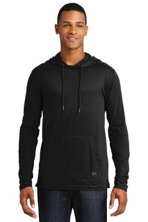 New Era Tri-Blend Performance Pullover Hoodie Tee.-
