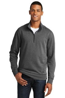 New Era ® Tri-Blend Fleece 1/4-Zip Pullover.-