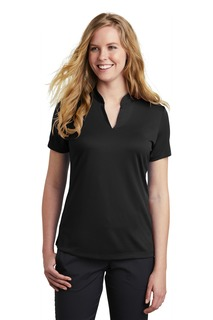 Nike Ladies Dri-FIT Hex Textured V-Neck Top.-Nike