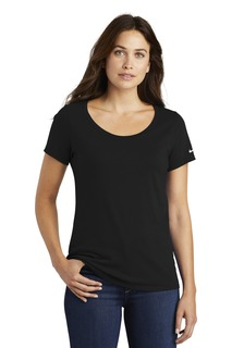 Nike Ladies Core Cotton Scoop Neck Tee.-Nike
