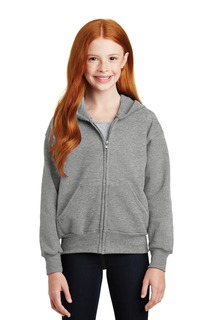 Hanes® - Youth EcoSmart® Full-Zip Hooded Sweatshirt.-
