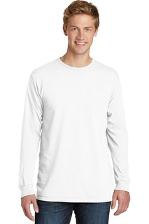 Port & Company Beach Wash Garment-Dyed Long Sleeve Tee-