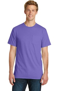 Port & Company Beach Wash Garment-Dyed Pocket Tee.-