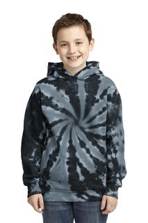 Port & Company Youth Tie-Dye Pullover Hooded Sweatshirt.-
