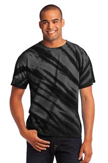 Port & Company - Tiger Stripe Tie-Dye Tee.-