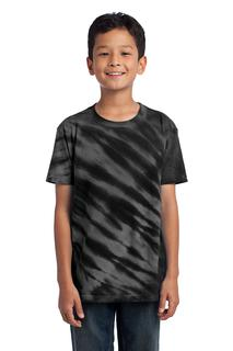 Port & Company® - Youth Tiger Stripe Tie-Dye Tee.