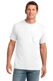 Port & Company® Core Cotton Pocket Tee.-